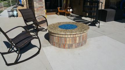 Custom-Decks-5-wide-circular-fire-pit-glass-aurora-colorado