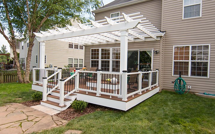 Trex Pergola Attached On Deck Angle