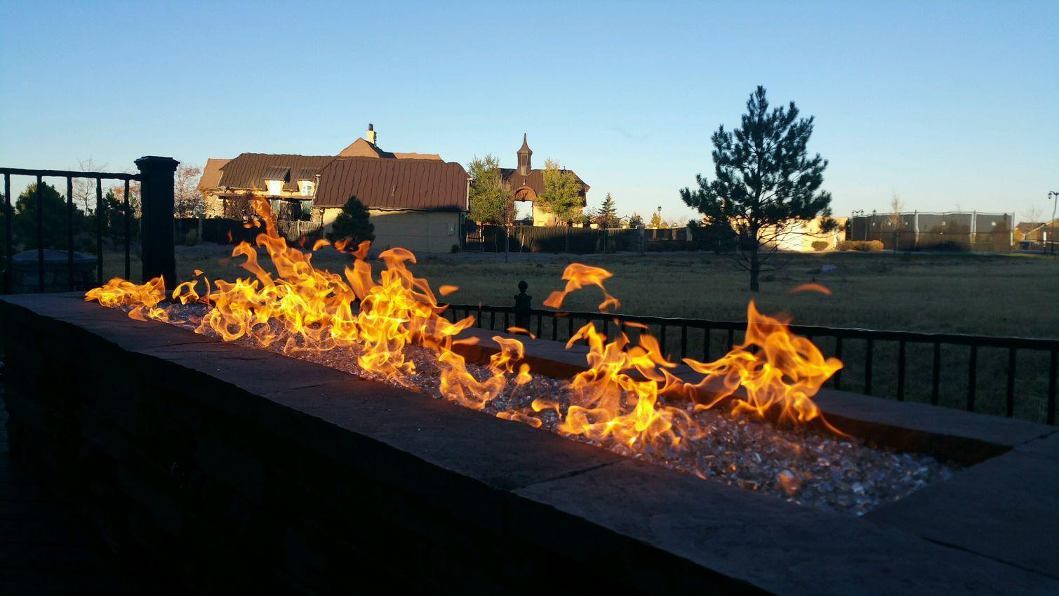 Custom Decks Fire Pit 1 Million Btus